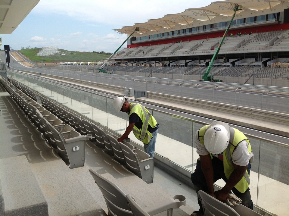Austin Photo: Kevin_Circuit of the Americas preview_October 2012_Ecclestone seats