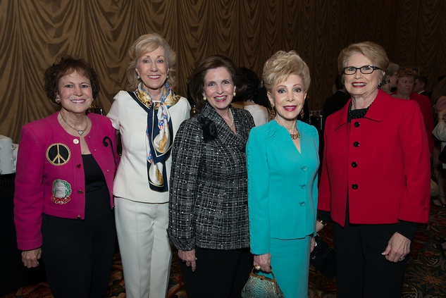 Regina Rogers, from left, Catherine Mosbacher, Carmela Frels, Margaret Alkek Williams and Ginger Blanton at the Center for Houston's Future luncheon March 2015