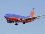 Southwest Airlines airpline jet flying