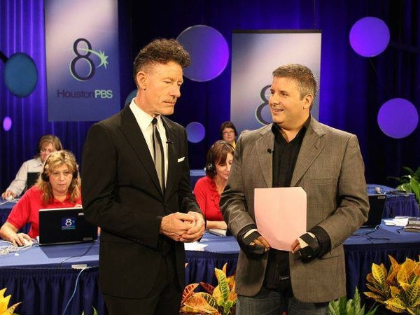 Ernie Manouse, Lyle Lovett, For the Sake of Song pledge event, September 2011