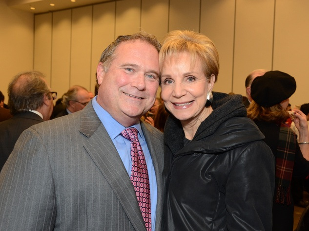 15 Jim Mills and Leisa Holland-Nelson at the mayoral inauguration reception at the Houston Food Bank January 2014