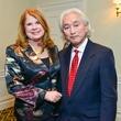 Joni Baird and Michio Kaku at the Center for Houston's Future dinner October 2013