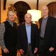 Clayton Trier, from left, Howard Tellepsen Jr. and David Baldwin at St. Luke's holiday party December 2014