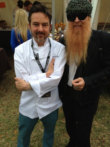 Rock Your Taco champion Tyson Cole with special guest judge Billy Gibbons of ZZ Top