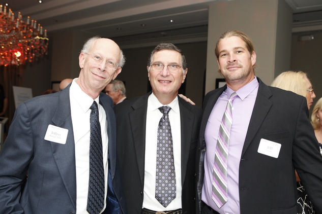4 Dr. Jeffrey Brown, from left, Dr. Martin Bloom and Jeff Davies at the Health Museum Gala September 2014