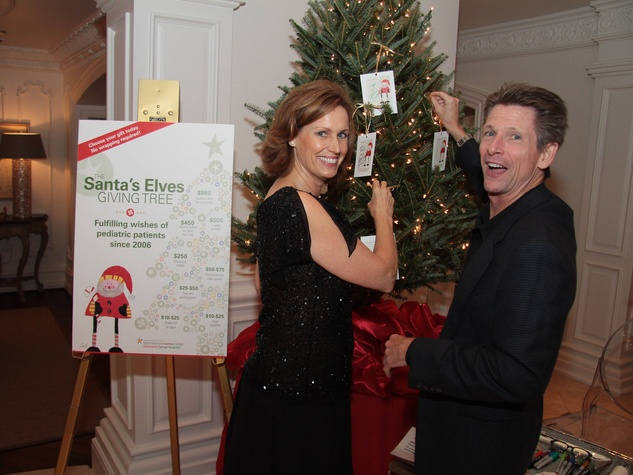 M.D. Anderson Santa's Elves party, December 2012, Barbara Aksamit, John Crabb