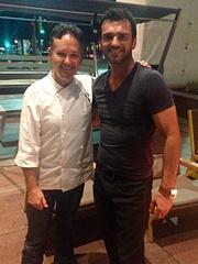 Stephan Pyles and Tony Dovolani at San Salvaje