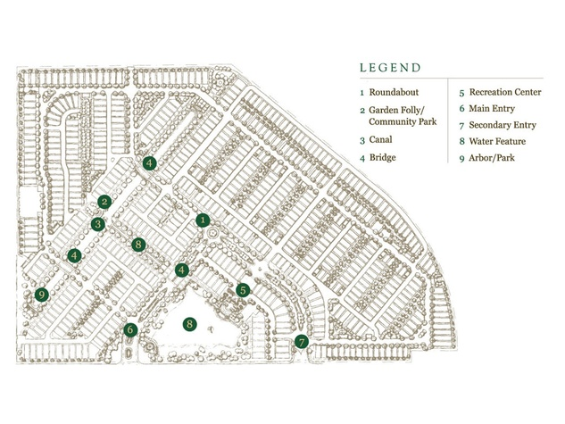 Somerset Green gated community Hines rendering February 2015 master plan