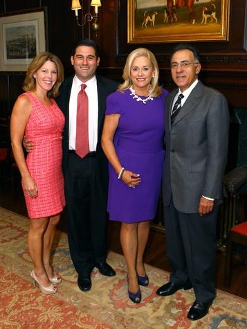 Michaela and Trey Guena, Ann Dyer, Honorary Service Award recipient; Bob Dyer