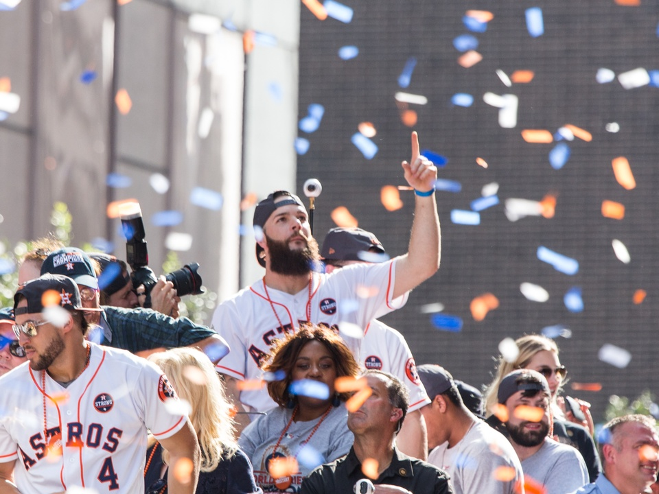 Astros World Series victory parade and rally, Dallas Keuchel