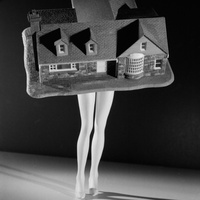 News_Tyler_CAMH_Deconstructive Impulse_January 2012_Laurie Simmons_Walking House from Walking and Lying Objects_1989