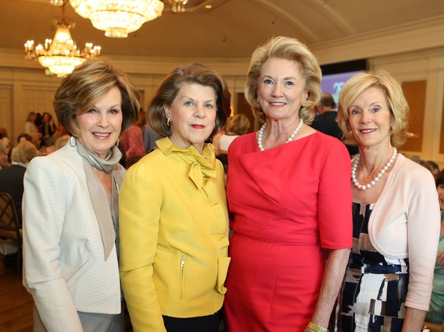 Rita Madden, from left, Judy Margolis, Patsy Fourticq and Jane Fourticq at the St. Luke's Friends of Nursing luncheon April 2014