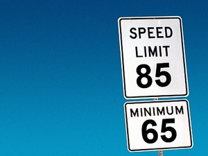 speed limit, speed limit sign, 85 mph