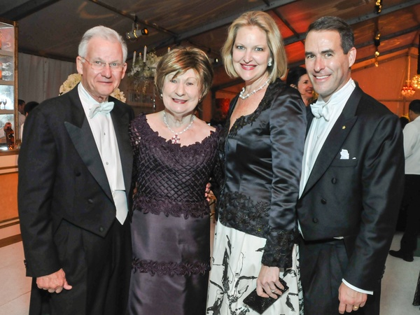 0016, Houston Symphony Ball, March 2013, Harry Mach, Cora Sue Mach, Joella Mach, Steve Mach