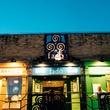 exterior of Fado Irish Pub at night