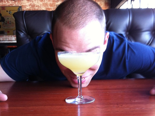 Bobby Heugel with margarita