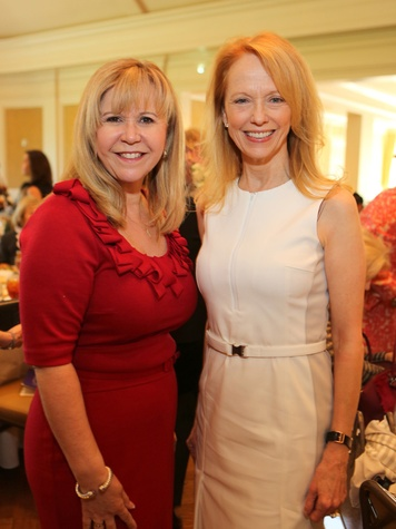 Cyndy Garza-Roberts, left, and Susan Krohn at the St. Luke's Friends of Nursing luncheon April 2014