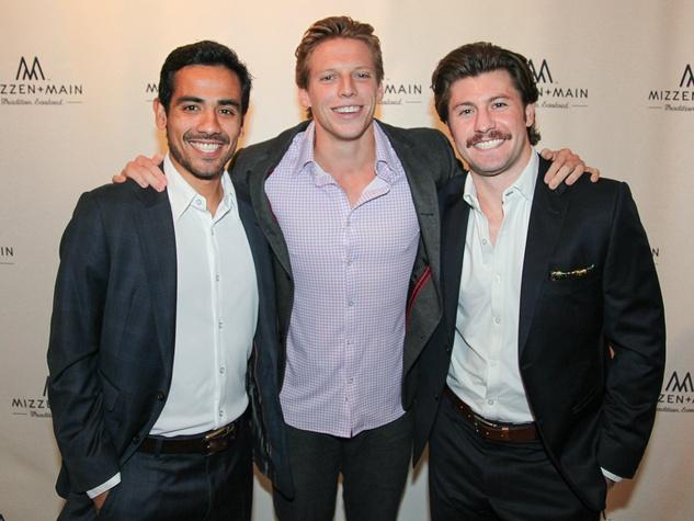 Cesar Jasso, Matthew Miller, and David Redish of Slice Media, Mizzen+Main 2 Year Anniversary
