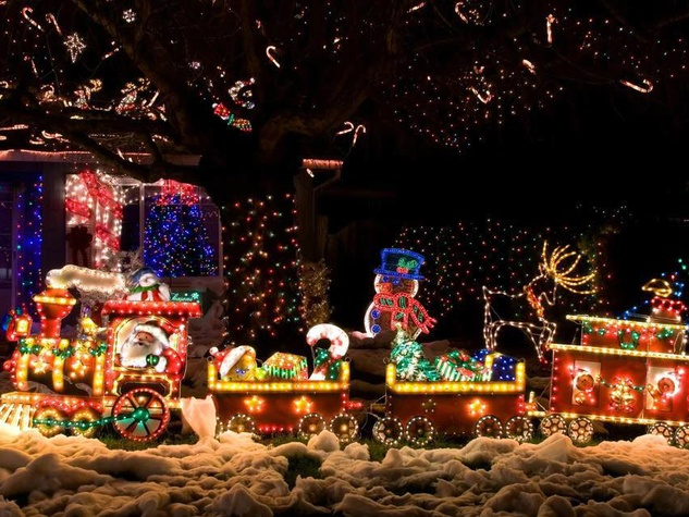 San Antonio Christmas Light Fest Don Strange Ranch Santa train