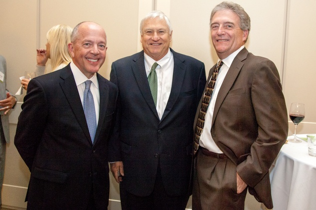39 Tim Williamson, from left, Gary Hough and Gary Altergott at the Urban Land Institute Houston mixer October 2014