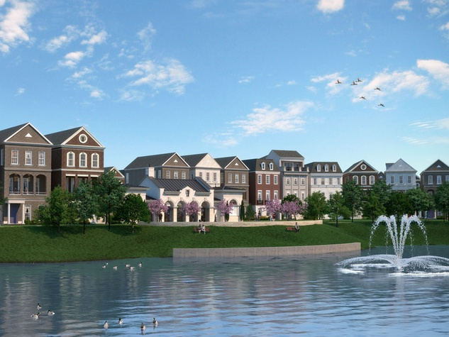 Somerset Green gated community Hines rendering February 2015 Somerset Pond