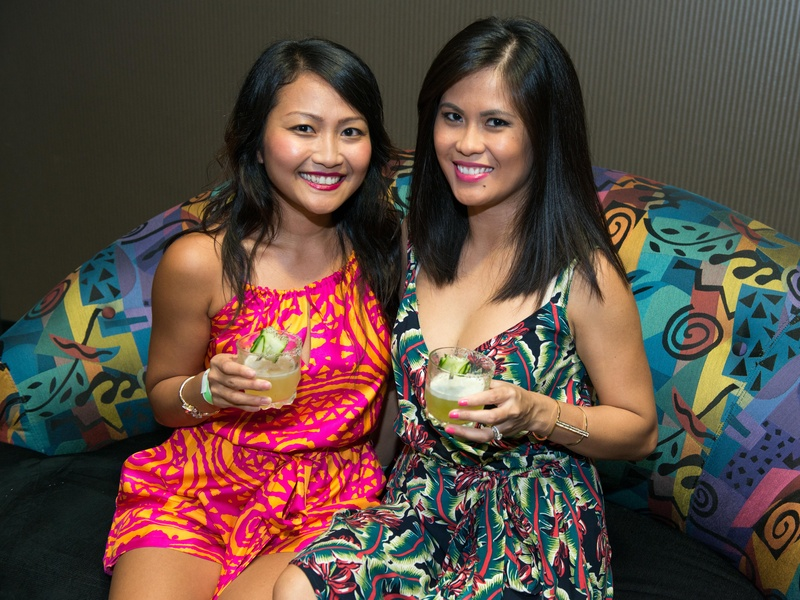 11 Quinh Tran, left, and Ansokha Sam at the Crafted mixology contest at Mr. Peeples July 2014