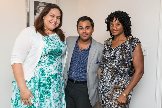 2 Laurel Flores, from left, Clint Sosa and Charyn McGinnis at the HGO Young Patrons Kick-off September 2014.