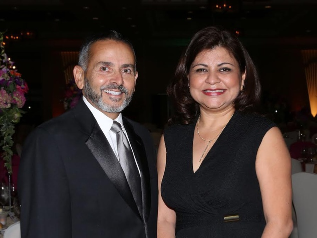 4 Ramiro Fonseco and Margaret Rodriguez at the AAMA Tacos y Tacones Gala October 2014
