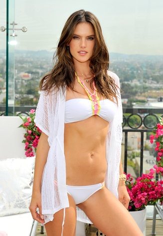 Alessandra Ambrosio Victoria's Secret 2014 swim collection