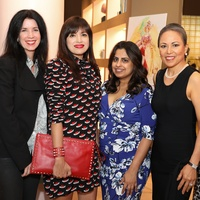 Houston Grand Opera party at The Webster, Ann Malcolm, Sandra Manela, Ruchi Mukerjee, Raquel Lewis