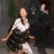 Yuri Gandy and Harry Thompson at the St. Luke's PULSE Saints & Sinners Halloween party October 2013