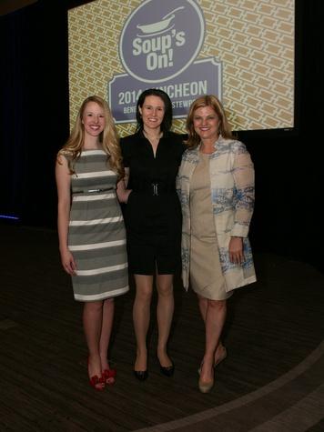Co-chair Sarah Leverett Charbonnet, Author Liz Murray and Co-chair Gail Davis, stewpot alliance