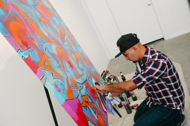 32 GONZO247 at Child Advocates Art Party November 2014