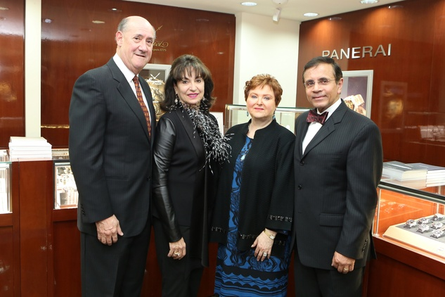 Ken and Mady Kades, from left, and Helene and Dror Zadok at the Alley Theatre Gala Kick-Off March 2015