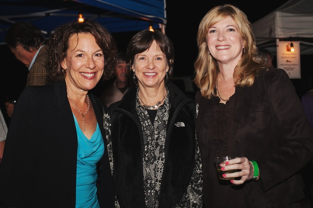 33 Sandy Wicoff, from left, Maureen Croft and Garland Kerr at the Urban Harvest 10th anniversary dinner November 2014