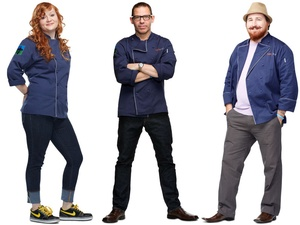 Danyele McPherson, John Tesar and Joshua Valentine of Top Chef: Seattle