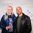Mariana Kotenko and Lex Newcastle at the MFAH Art Crowd Party November 2014