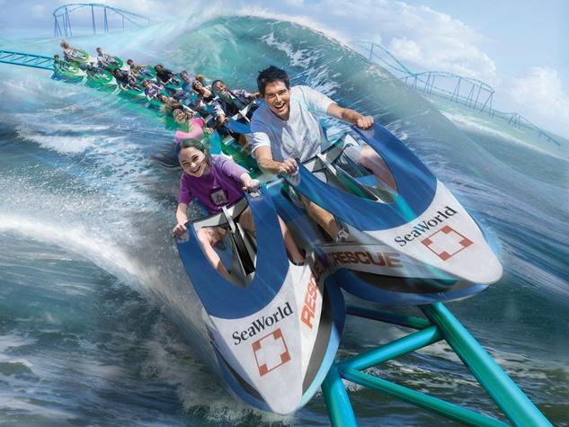 SeaWorld San Antonio presents Wave Breaker: The Rescue Coaster