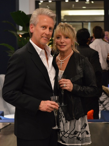Gerry and Kenna Gibson at the Suitsupply Houston grand opening party December 2013