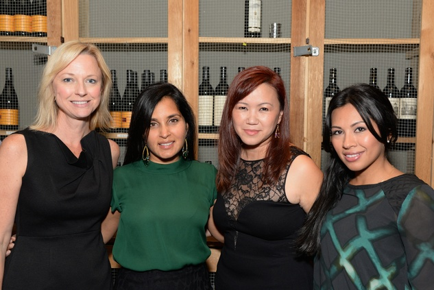 25 Reyne Hirsch, from left, Swati Narayan, Tammy Tran Nguyen and Stephanie Carrasco-Oshman at the KNOWAutism Foundation reception September 2014