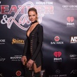 Hannah Ferguson at Leather and Laces Friday night