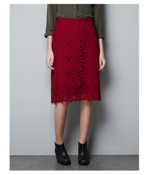 Zara Lace Pencil Skirt