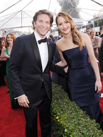 Screen Actors Guild Awards, SAG, January 2013, Bradley Cooper, Jennifer Lawrence