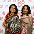 Savita Rao, left, and Madhavi Ghatge Kavadi at the South Asian Chamber Gala February 2014