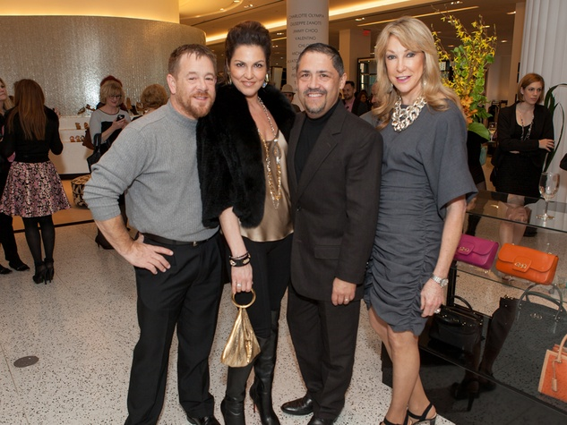 8. Shelby Kibodeaux, from left, Jessica Rossman, Bruce Padilla and Hershey Grace at the Little Black Dress designer kick-off party and fashion show March 2014
