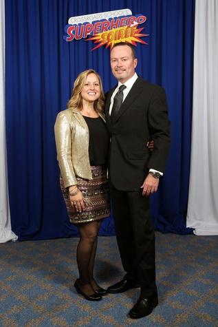"Heather and Steven Newstead at Crossroads School's ""Superhero Soiree"" Gala February 2015"