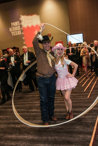 Roper and Texas Cutie at the Citizens for Animal Protection Gala November 2014