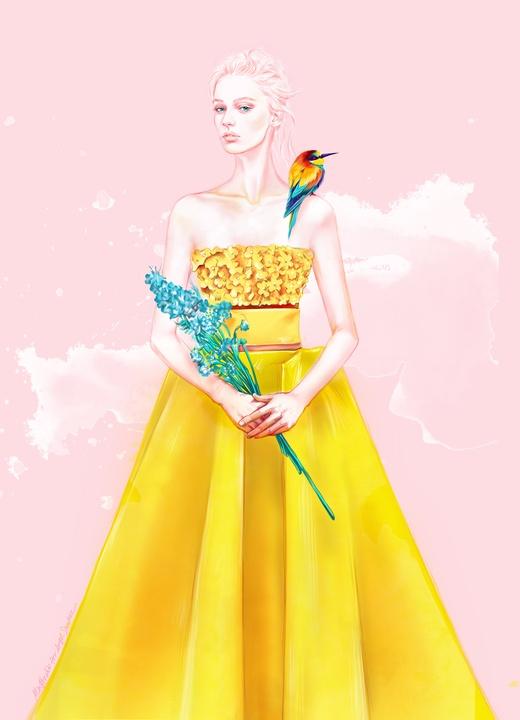 Angel Sanchez inspiration sketch New York Fashion Week spring 2016