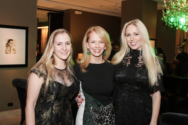 Kelly Krohn, from left, Susan Krohn and Lori Krohn at the Knowledge Arts Foundation dinner November 2013