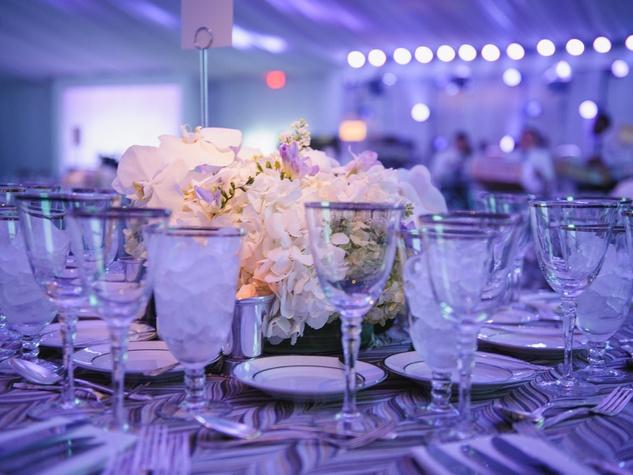 Table setting at Art Ball 2014